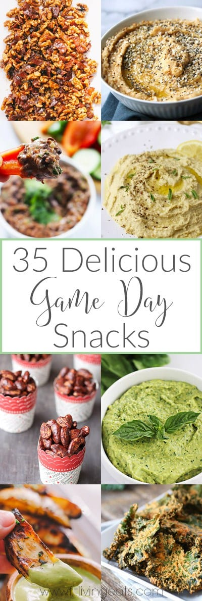 A roundup of 35 delicious game day recipes to host your next football party!