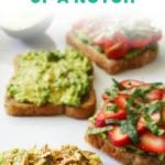 Avocado Toast 4 Ways - FitLiving Eats by Carly Paige PIN-01
