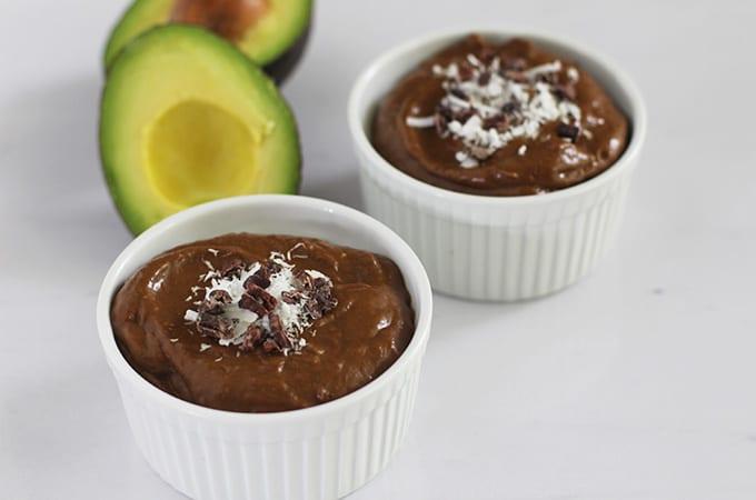 chocolate avocado pudding