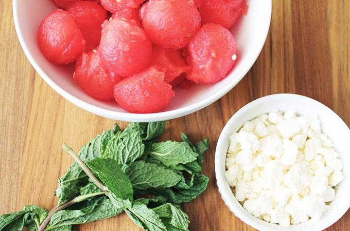 watermelon salad with mint recipe