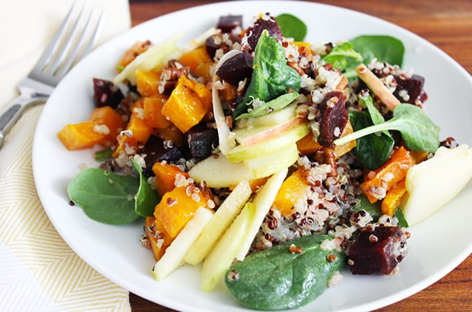 fall harvest salad with butternut squash and quinoa recipe