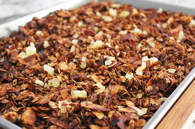 gingersnap granola recipe