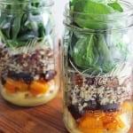 butternut squash and quinoa fall harvest mason jar salad