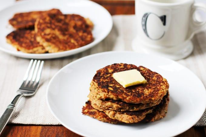 carrot apple zucchini pancake recipe // gluten-free dairy-free