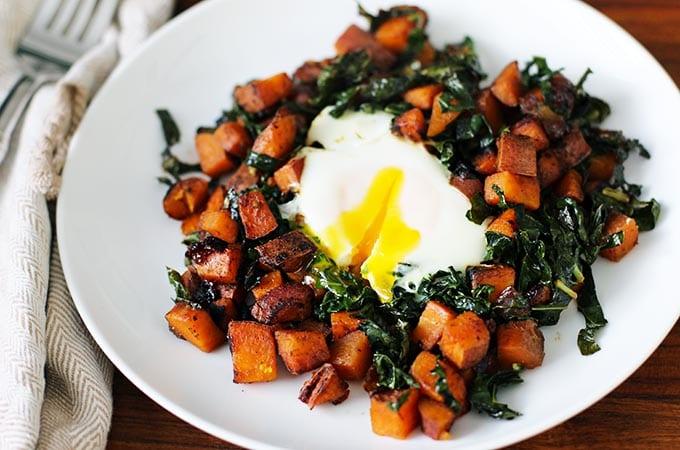 sweet potato hash plated