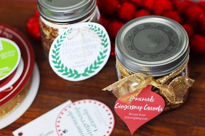homemade gift with diy gift tags