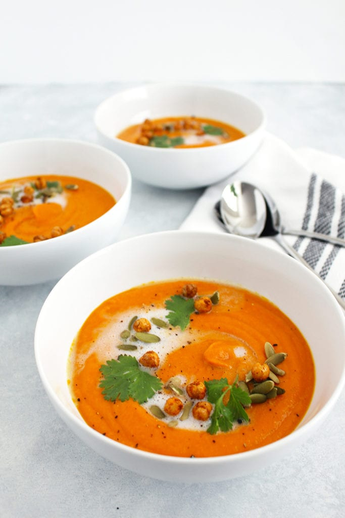 Healthy Fall Soups - Roasted Carrot Butternut Squash Soup Recipe