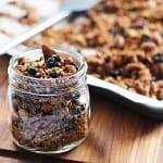 blueberry vanilla almond granola