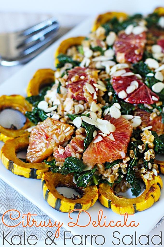 Citrusy Kale & Farro Warm Salad // FitLiving #recipe #plantbased #healthy