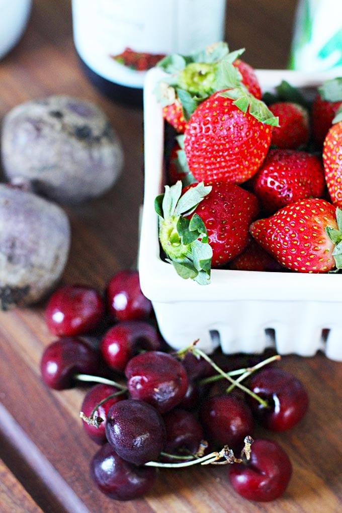 very berry cherry protein smoothie