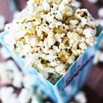 Cheesy Rosemary Truffle Popcorn
