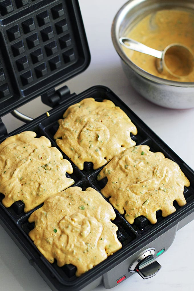 falafel waffles batter