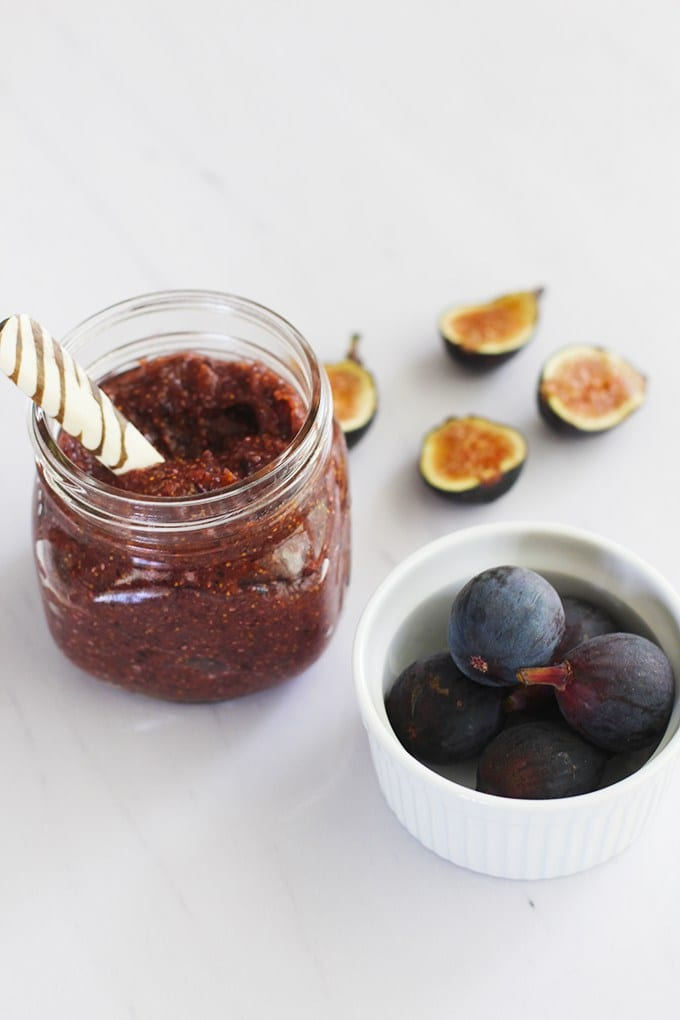 Fig Chia Jam made in 5 minutes and with only 4 ingredients!