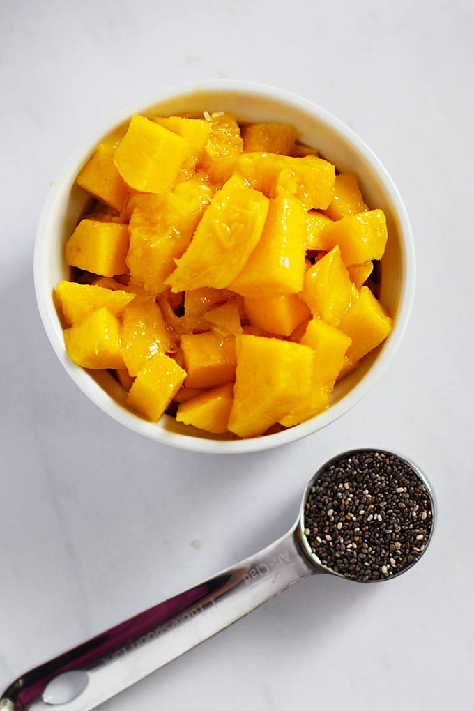FitLiving Eats by Carly Paige | Recipes mango coconut chia pudding ingredients