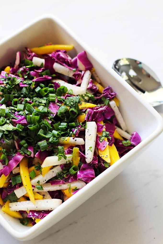 Jicama and Mango Slaw || FitLiving Eats