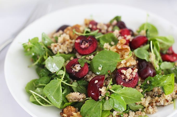 Cherry and walnut salad