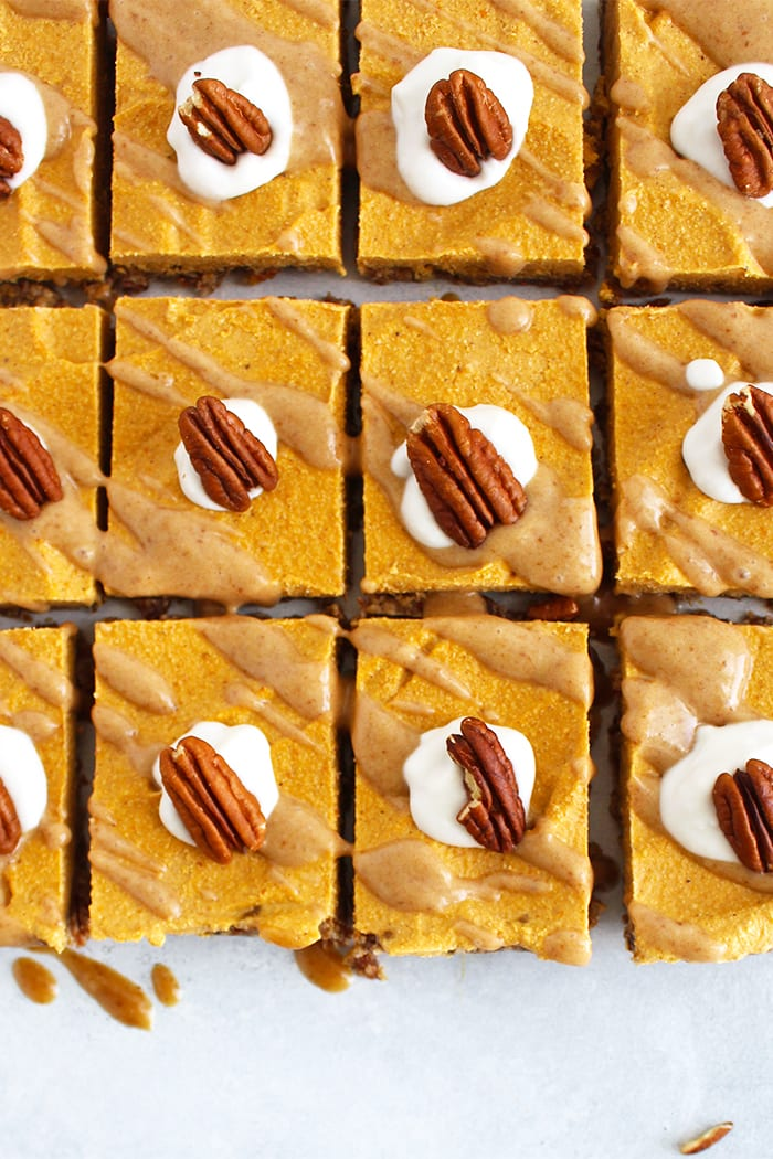 FitLiving Eats by Carly Paige - Recipe pumpkin pie cheesecake bars 2