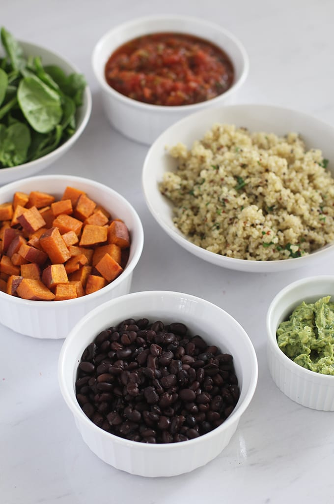 FitLiving Eats by Carly - Recipe - Chipotle-Inspired - Sweet Potato and Black Bean Power Bowl