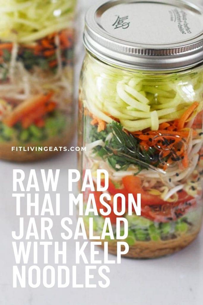 Raw Pad Thai Mason Jar Salad Kelp Noodles
