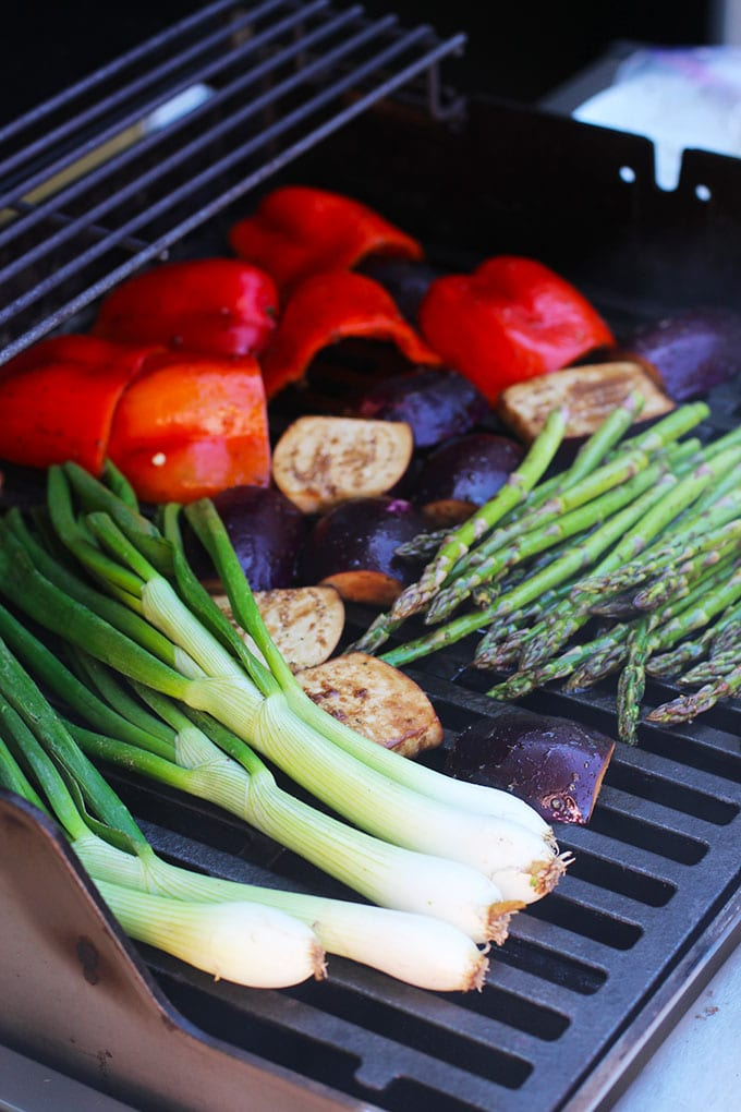 Simply Grilled Vegetables with a Garlic Herb Dipping Oil   FitLiving Eats