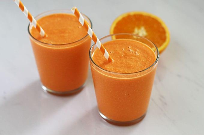 Immune-Boosting & Skin-Enhancing Carrot Orange Smoothie