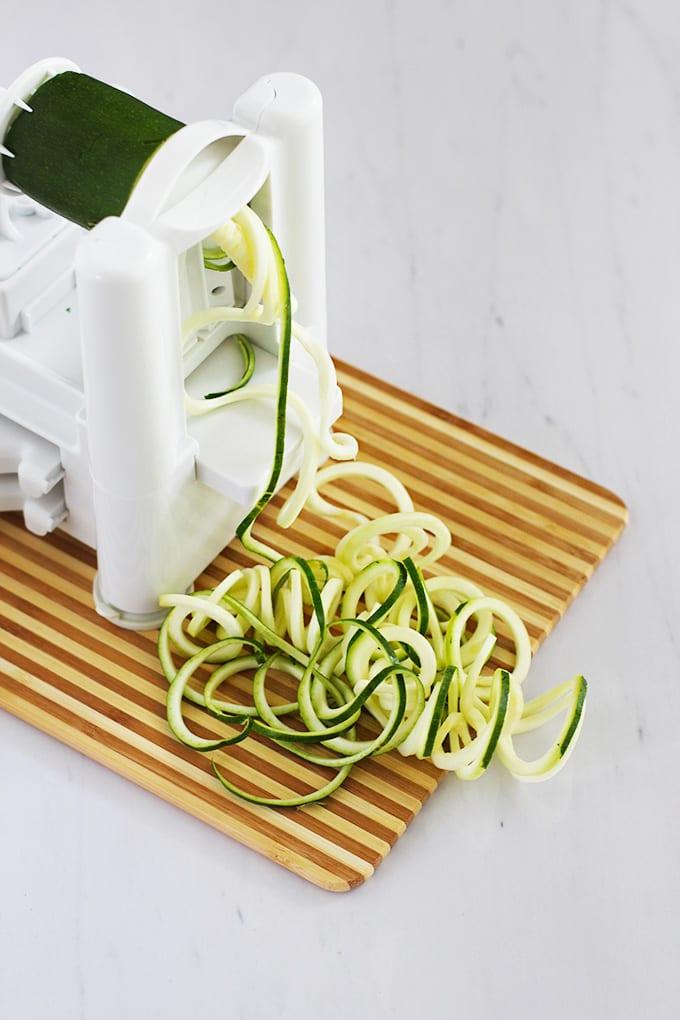 Coconut Chickpeas & Greens with Zucchini Noodles (vegan + gluten-free!)