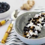 Almond Ginger Blueberry Anti-Inflammatory Smoothie Bowl