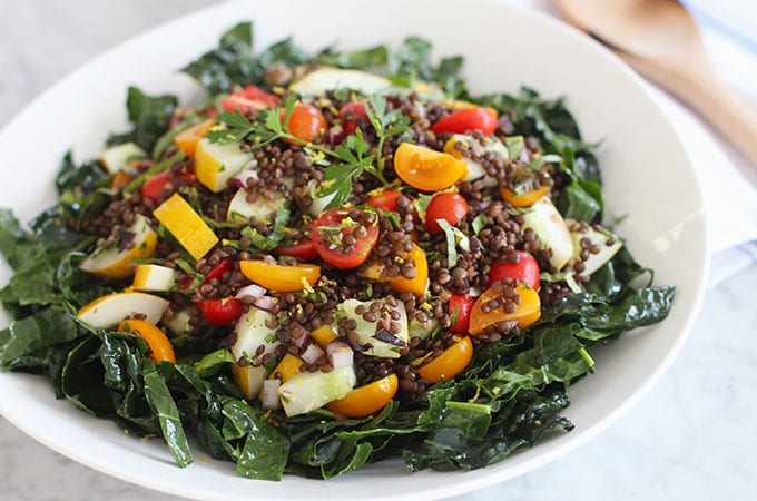 Veggie Greek Lentil Salad