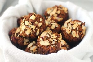 gingerbread cranberry muffins