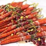 Roasted Carrots with a Pomegranate Glaze