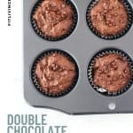Double Chocolate Sweet Potato Brownie Muffins - 5
