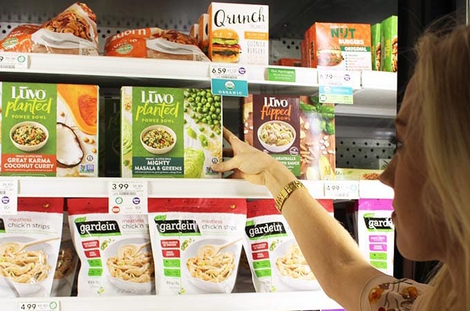 healthy grocery store tour - freezer foods