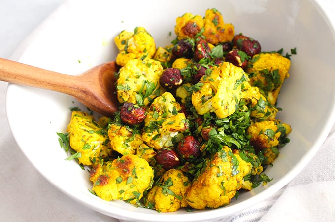 Anti-Inflammatory Turmeric Roasted Cauliflower Recipe