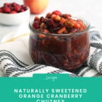 FitLiving Eats by Carly Paige - Recipe Cranberry Chutney Pinterest Img