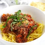 FitLiving Eats by Carly Paige - Recipe - mushroom walnut bolognese featured