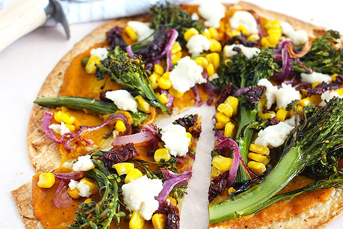 FitLiving Eats by Carly Paige - butternut squash tortilla pizza 5