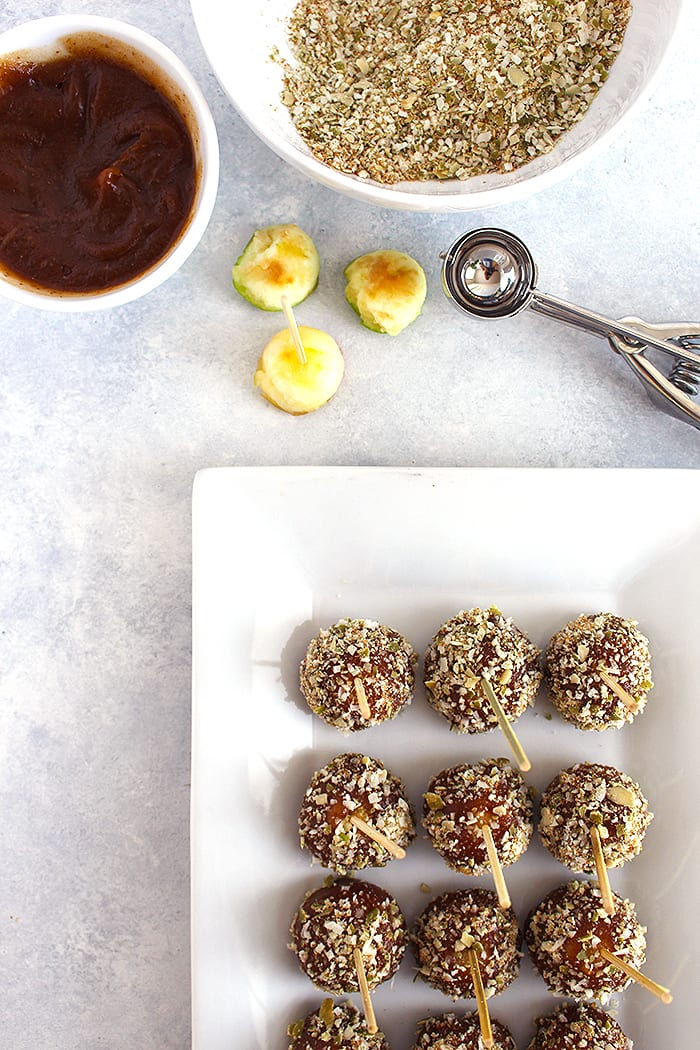 FitLiving Eats by Carly Paige - caramel apple pops recipe 2