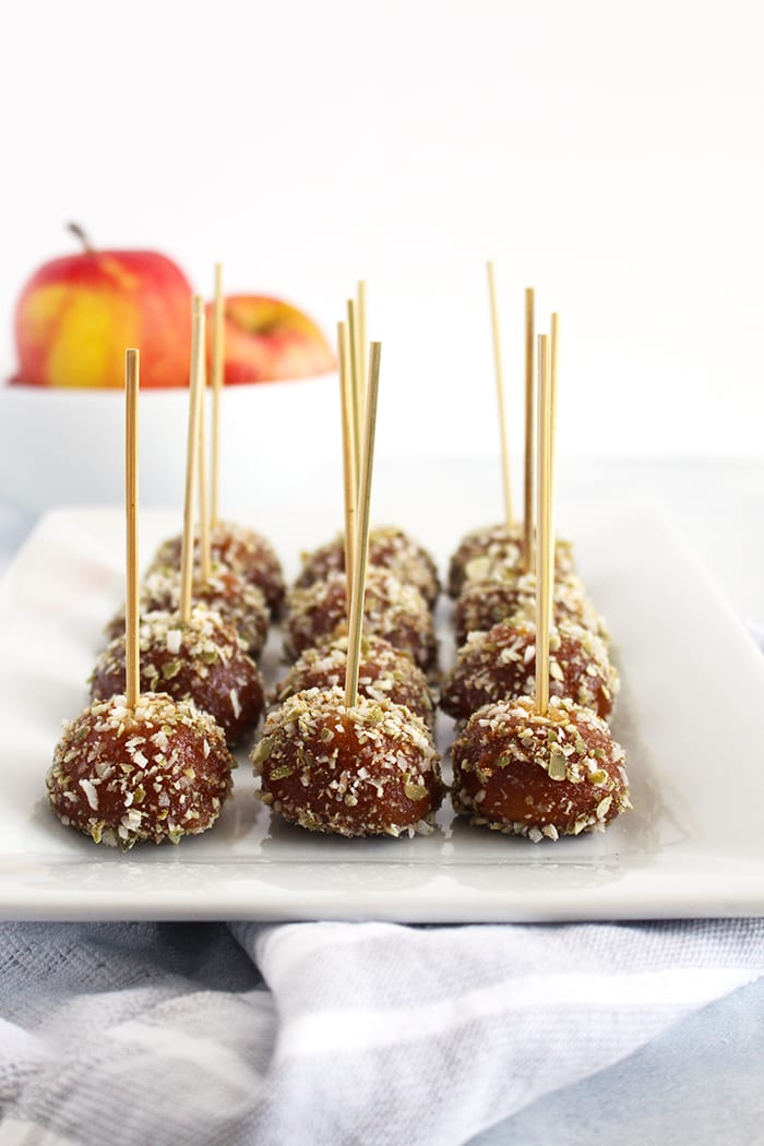 FitLiving Eats by Carly Paige - caramel apple pops recipe 4