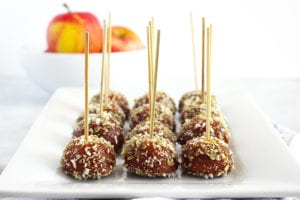 FitLiving Eats by Carly Paige - caramel apple pops recipe featured