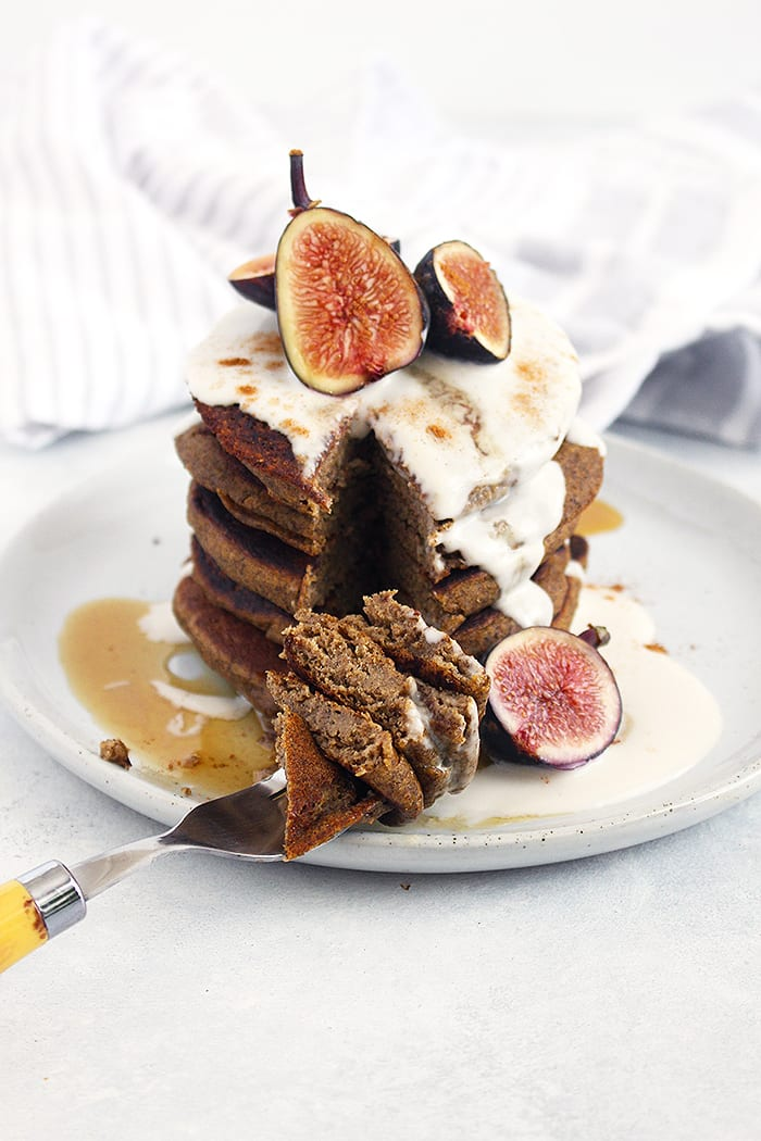 FitLiving Eats by Carly Paige - 17 Vegan Breakfast Recipes for Christmas Morning buckwheat-pumpkin-pancakes-3