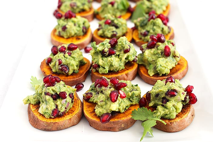 FitLiving Eats by Carly Paige - Recipe - pomegranate guacamole featured