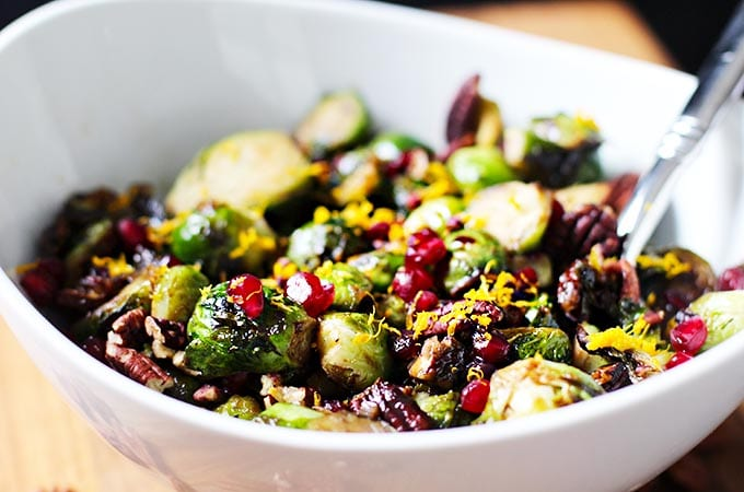 FitLiving Eats by Carly Paige - Winter Produce Guide - orange-balsamic-glazed-brussels-sprouts_plated-1