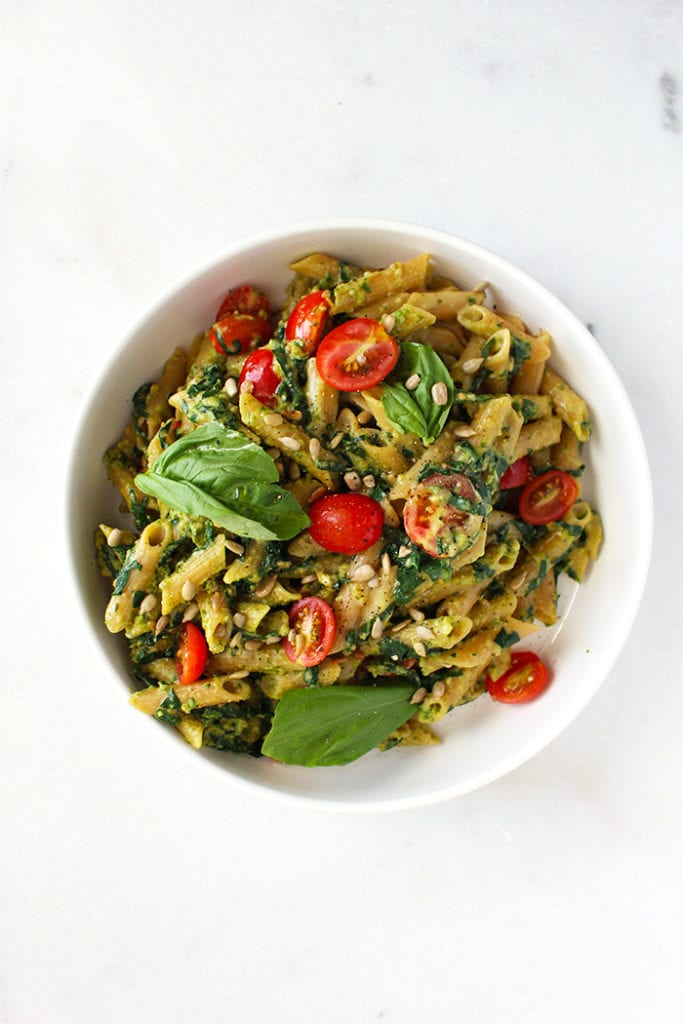 5 ingredient pesto pasta - FitLiving Eats by Carly Paige - 1