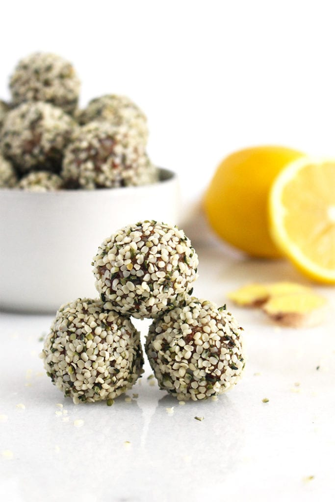 FitLiving Eats by Carly Paige - Recipe - lemon ginger energy bites 3