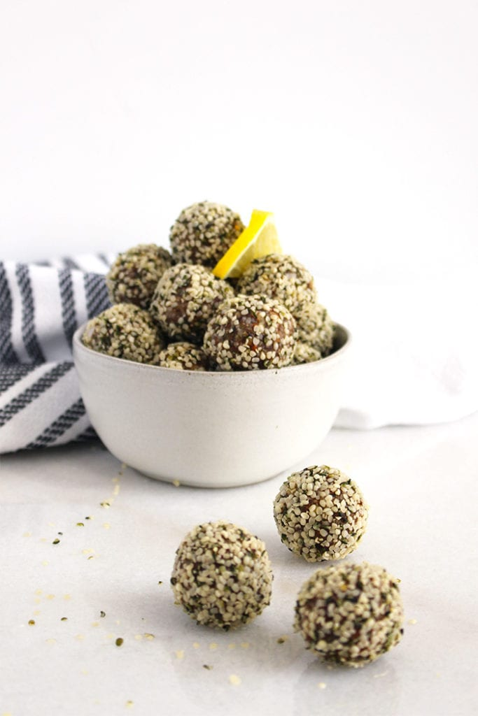 FitLiving Eats by Carly Paige - Recipe - lemon ginger energy bites 5
