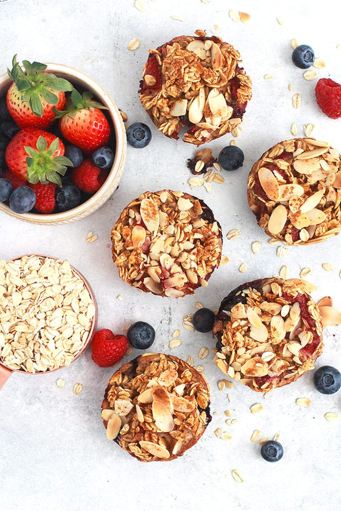 FitLiving Eats by Carly Paige - Recipes - berry oatmeal cups 4