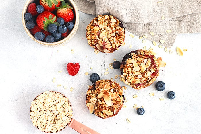 FitLiving Eats by Carly Paige - Recipes - oatmeal berry cups featured