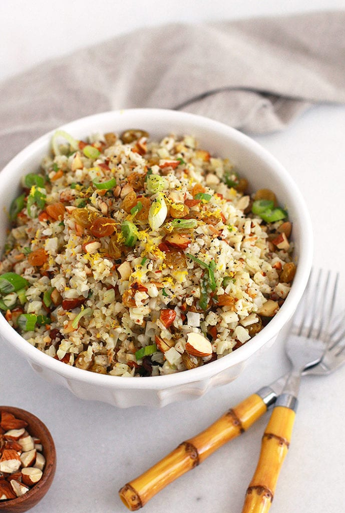 FitLiving Eats by Carly Paige - Recipe - zesty cauliflower rice pilaf 4