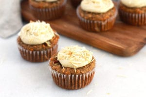FitLiving Eats by Carly Paige - carrot cake muffins featured