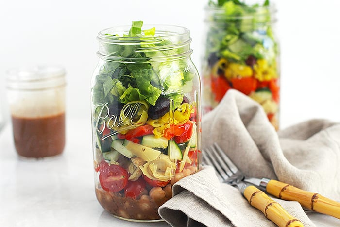 antipasto mason jar salad featured FitLiving Eats by Carly Paige